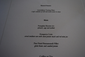 Sydney Lunch Menu